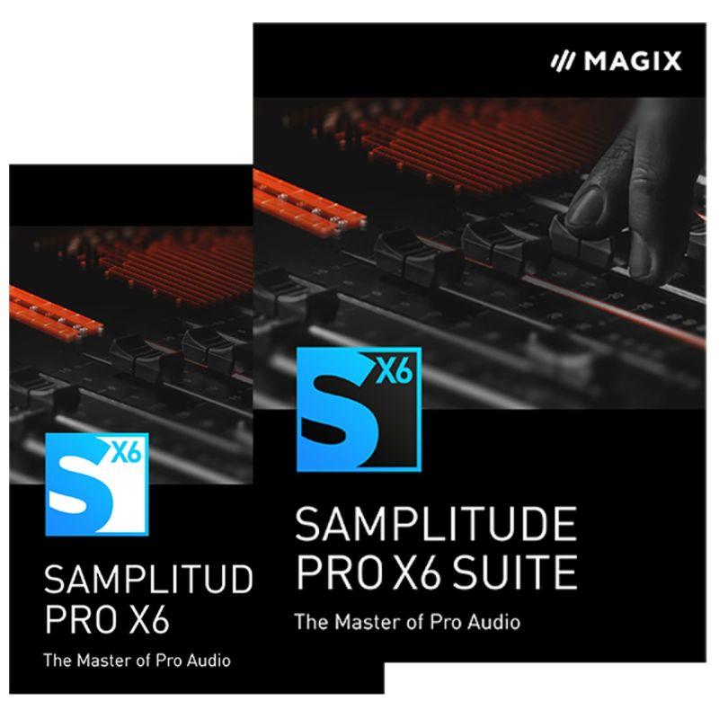 Samplitude Pro X6 y Pro X6 Suite.